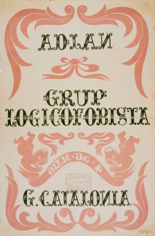 «Grup Logicofobista» (1936). Cartell original de Salvador Ortiga