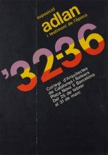 "Cartell ""ADLAN i testimoni de l'època 32-36"""