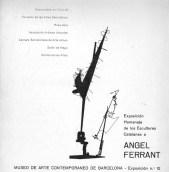 Catàleg «Exposición homenaje de los escultores catalanes a Ángel Ferrant»