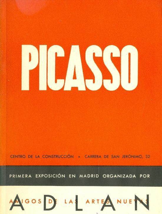 Catàleg Picasso exposició organitzada per ADLAN (Madrid)