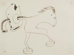 """Dibuix de la sèrie """"El benefactor trompeta"""" (entre 1933 i 1935)"""