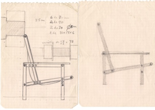 Jaume Sans (esbós disseny cadira)