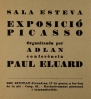 Invitació exposició Picasso organitzada per ADLAN