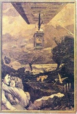 "ALFONSO BUÑUEL, ""Sense títol"" (1944), collage (29 x 19,7 cm). Residencia de Estudiantes. Madrid."