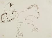 JAUME SANS Dibuix preparatori del Benefactor trompeta (entre 1933 i 1935)