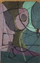 Sense títol (entre 1945 i 1957). Pintura sobre fusta.
